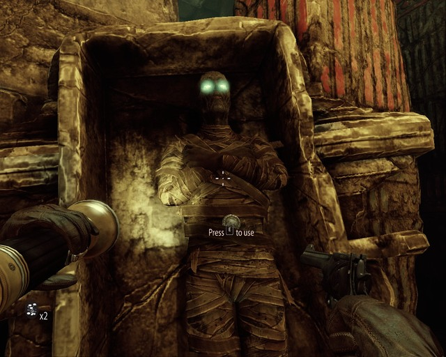 Youll need a skull and three coins, you can find them in this room. - Mayan Tombs - Walkthrough - Deadfall Adventures - Game Guide and Walkthrough