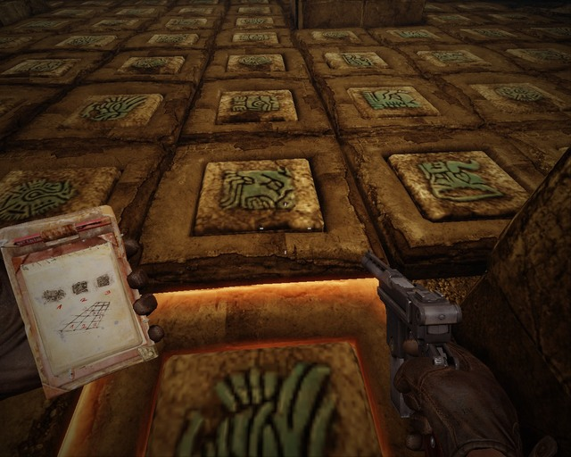 You have to walk according to the tiles numbers, thats the only way to open the door. - Mayan Tombs - Walkthrough - Deadfall Adventures - Game Guide and Walkthrough