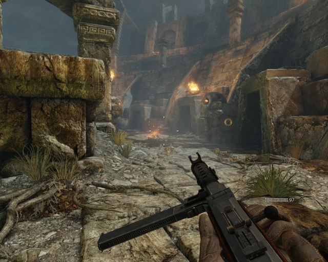In my opinion this is the best place to resist the attacks of the ghouls - Mayan Temple - Walkthrough - Deadfall Adventures - Game Guide and Walkthrough