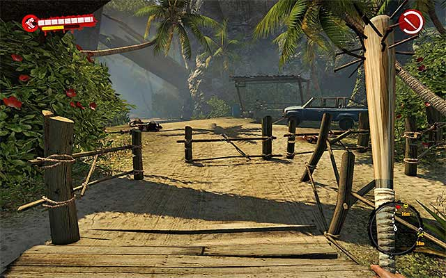 You can get there in many ways, but the best one is to choose an eastern exit from Paradise Survival Camp what takes you to a bigger path where the car is parked - Ask about the boat - Chapter 2 - New Beginnings - Dead Island Riptide - Game Guide and Walkthrough