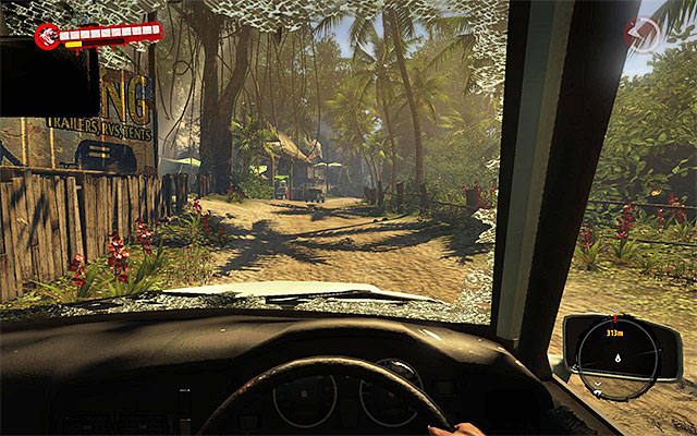 As you get inside the vehicle, ride to southern-east, staying at the main road and trying to ram zombies (easy XP) - Ask about the boat - Chapter 2 - New Beginnings - Dead Island Riptide - Game Guide and Walkthrough
