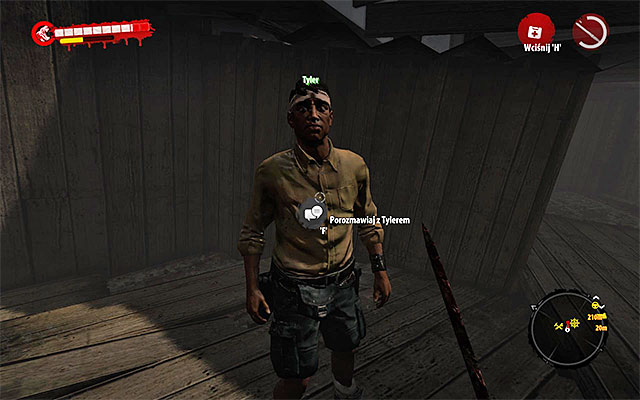 When you eliminate all zombies, get onto the higher level of building and talk with Tyler who thanks you and give lot of cash - Rescue Tyler - Side missions - Jungle - Dead Island Riptide - Game Guide and Walkthrough