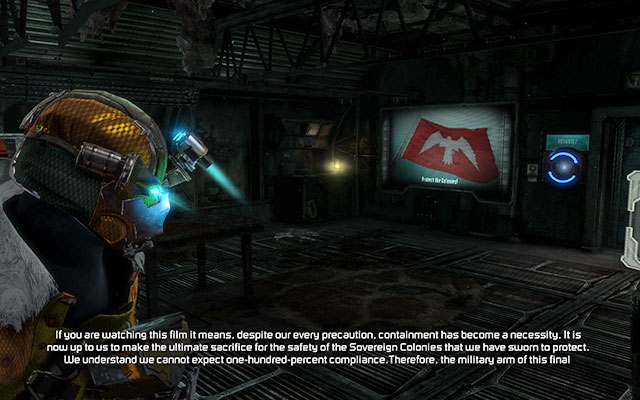 Keep along your path until you reach barracks - Collect the Probe components - 11: Signal Hunting - Dead Space 3 - Game Guide and Walkthrough