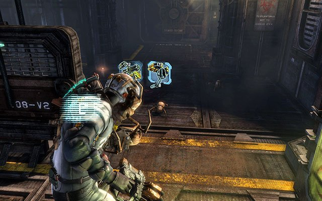 A further way leads through several corridors full of crates with radioactivity marks and Necromorphs - Restore power and override the lock-down - Side missions: C.M.S. Greely - Dead Space 3 - Game Guide and Walkthrough