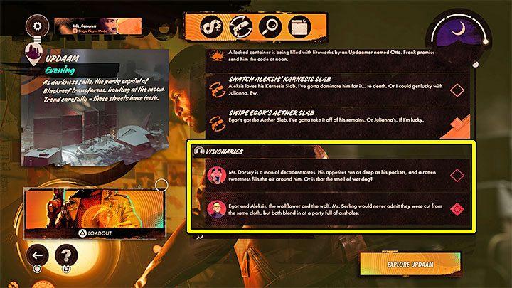 Вы также можете проверить, доступны ли провидцы на экране подготовки миссии - Deathloop: Visionary не появляется - почему?  - FAQ - Гайд по Deathloop