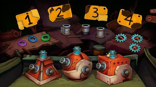 Using hints which Doc gave you, combine spare parts with corpuses - Fix the mine cart - Part 2 - Junk Mine - Deponia - Game Guide and Walkthrough