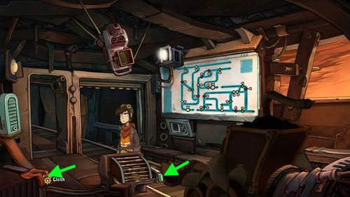 Pick up red Cloth on the left - Place Goal in the mine cart - Part 2 - Junk Mine - Deponia - Game Guide and Walkthrough