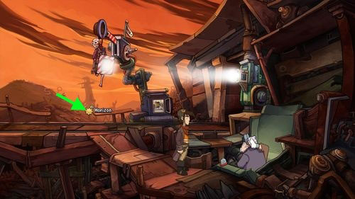 Return to Dock and ask him how can man calm down a little (Doc, I am too fidgety) - Place Goal in the mine cart - Part 2 - Junk Mine - Deponia - Game Guide and Walkthrough