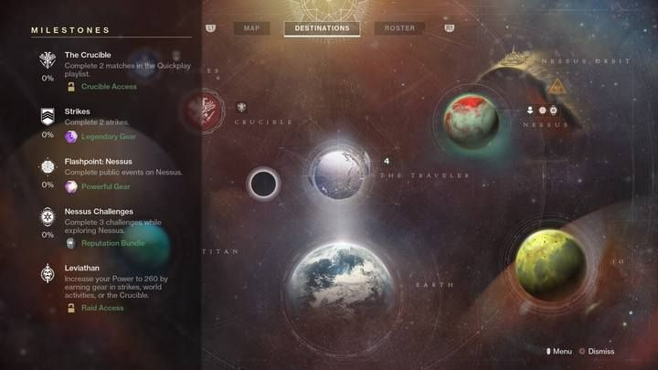 Milestones are the most important feature that changes on a weekly basis. - Daily and Weekly reset | Navigation and acitivities - Navigation and activieties - Destiny 2 Game Guide