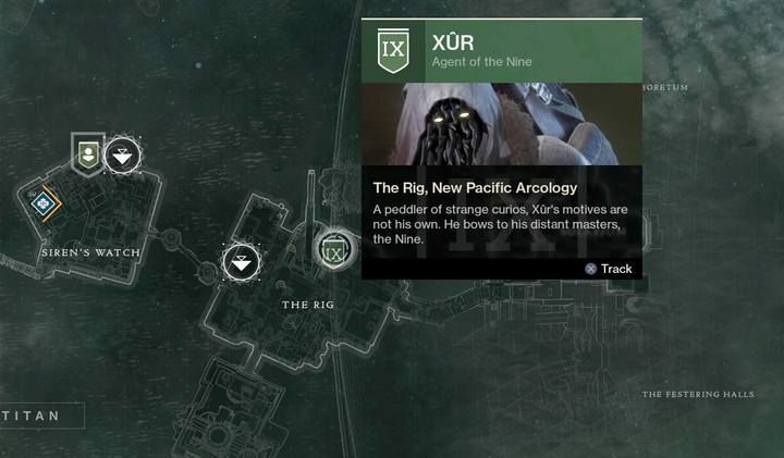 Every Friday (until Tuesday) you can come across a unique NPC called Xur, known from the first part of the game - Merchant Xur | Navigation and activieties - Navigation and activieties - Destiny 2 Game Guide