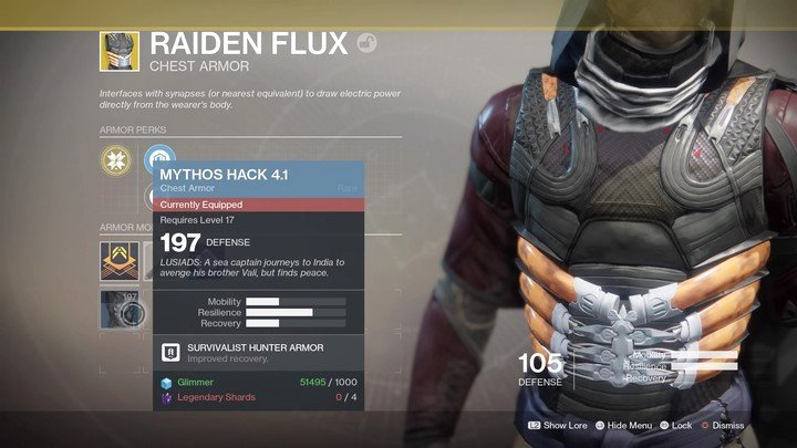 Infusion allows you to keep special stats of a given weapon by increasing its Power, however, this is done at a cost of another item - Modifications and ways of obtaining them | Equipment - Equipment - Destiny 2 Game Guide