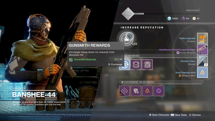 Rusznikarz zajmuje sie ulepszeniami, z jego engram�w takze najlatwiej je zdobyc - Modifications and ways of obtaining them | Equipment - Equipment - Destiny 2 Game Guide