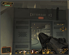 If you run out of ammo during the battle, then you might use two storage rooms located at the very bottom (Storage A and Storage B) #1 #2 - (9) Defeating the Hyron Project - Shutting Down Darrows Signal - Deus Ex: Human Revolution - Game Guide and Walkthrough