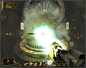 In both cases (using buttons or computer terminals), your goal is the same - opening the module - (9) Defeating the Hyron Project - Shutting Down Darrows Signal - Deus Ex: Human Revolution - Game Guide and Walkthrough