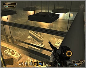 Go through the vent and after few moments youll reach a ladder #1 - (6) Saving hostages - Securing Sarifs Manufacturing Plant - Deus Ex: Human Revolution - Game Guide and Walkthrough