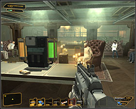 Carefully go straight ahead until you reach another air vent #1 - (6) Saving hostages - Securing Sarifs Manufacturing Plant - Deus Ex: Human Revolution - Game Guide and Walkthrough