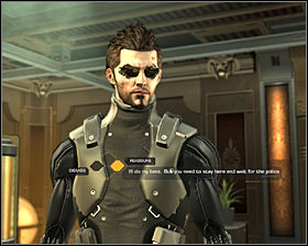 Stay in this room, pick up tranquilizer riffle ammo and find Greg Thorpe #1 - (6) Saving hostages - Securing Sarifs Manufacturing Plant - Deus Ex: Human Revolution - Game Guide and Walkthrough