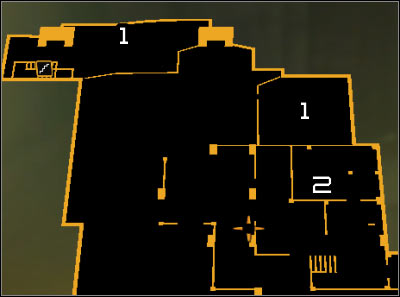 Map legend: 1 - Exit from the sewers; 2 - Weapon cache - Cloak & Daggers (steps 8-9) - Side quests - Deus Ex: Human Revolution - Game Guide and Walkthrough