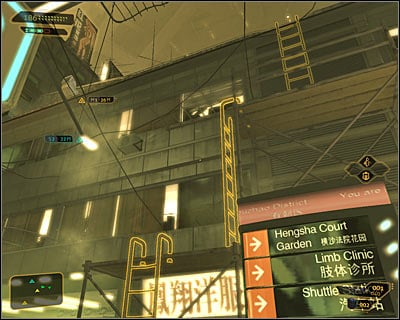 Make sure that you're in the southern part of the Youzhao district and find an apartment block - Bar Tab (steps 1-4) - Side quests - Deus Ex: Human Revolution - Game Guide and Walkthrough