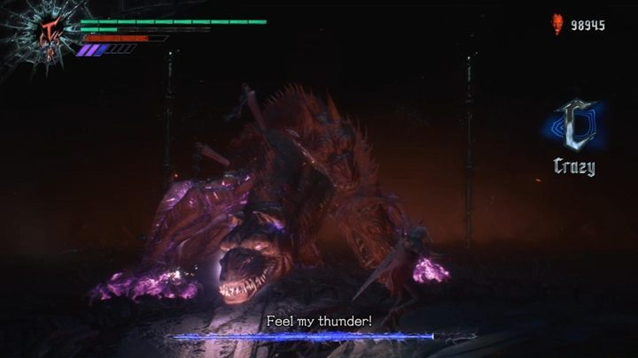 Put out the flames - when you do that, the enemy will start charging the next element - King Cerberus Boss Fight Guide for DMC5 - Bosses - Devil May Cry 5 Guide