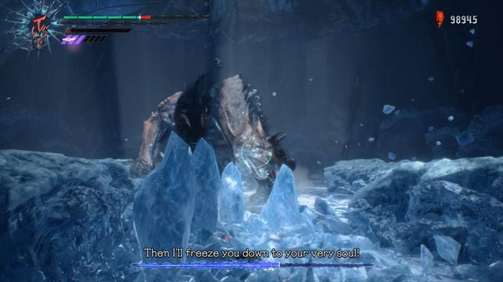 The enemy will start charging another element - ice - King Cerberus Boss Fight Guide for DMC5 - Bosses - Devil May Cry 5 Guide