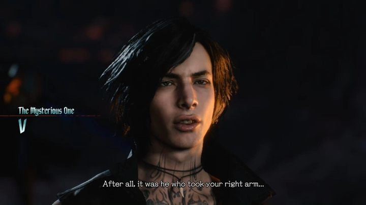 V is a new character in the series - shes very mysterious and hard to read her intentions - Devil May Cry 5 Guide