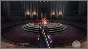 Destroy a big group of knights and break a statue of Red Orbs - Mission 10: Wrapped in Glory - WALKTHROUGH - Devil May Cry 4 - Game Guide and Walkthrough