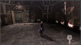 Take the Gold Orb from the alcove (you will need to use Kick Jump to reach it) - Mission 2: La Porte De L'Enfer - Missions - Devil May Cry 4 (PC) - Game Guide and Walkthrough