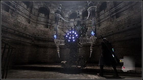 Go along the corridor, jump into the water in the big room to collect more Red Orbs - Mission 2: La Porte De L'Enfer - Missions - Devil May Cry 4 (PC) - Game Guide and Walkthrough