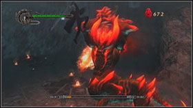 This fire demon can be a little hard to defeat, but only when you panic and start attack blindly - Mission 2: La Porte De L'Enfer - Missions - Devil May Cry 4 (PC) - Game Guide and Walkthrough