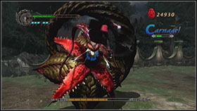 Echidna isn't easy to destroy so take a Vital Star just in case - Mission 7: The She-Viper - Missions - Devil May Cry 4 (PC) - Game Guide and Walkthrough