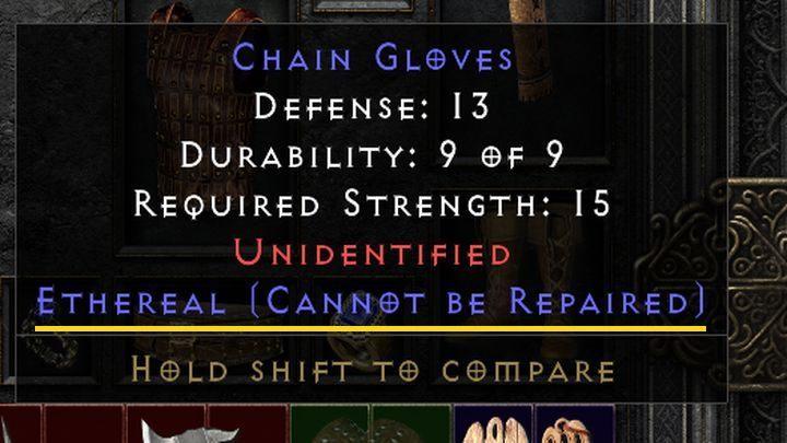 Единственным исключением из вышеупомянутых правил являются эфирные предметы - Diablo 2 Resurrected: Broken weapon - как починить?  - FAQ - Руководство по Diablo 2 Resurrected