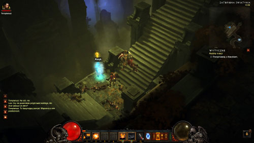 Use the next set of stairs and then talk to Alaric - The Broken Blade - Quests - Diablo III - Game Guide and Walkthrough