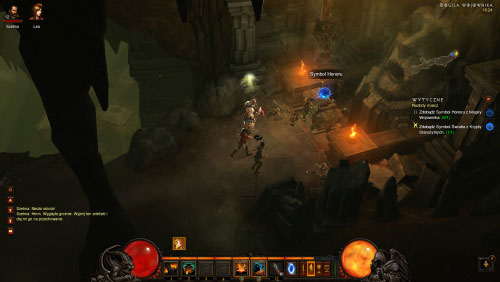 Continue exploring the crypt until you've located the Beacon of Honor - The Broken Blade - Quests - Diablo III - Game Guide and Walkthrough