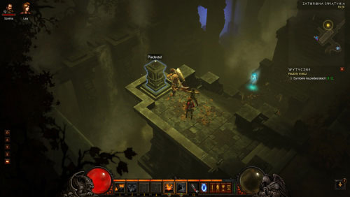 Return to the Festering Woods, locate a waypoint mentioned earlier in the text and once you've found it use it to travel to the Drowned Temple - The Broken Blade - Quests - Diablo III - Game Guide and Walkthrough