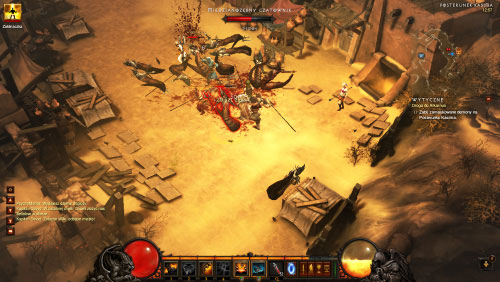 Go back outside to witness a battle taking place - The Road to Alcarnus - Quests - Diablo III - Game Guide and Walkthrough