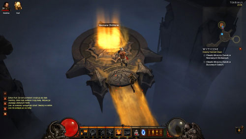 Listen to a new conversation and then approach a portal which will transport you to the Unknown Depths - The Black Soulstone - Quests - Diablo III - Game Guide and Walkthrough