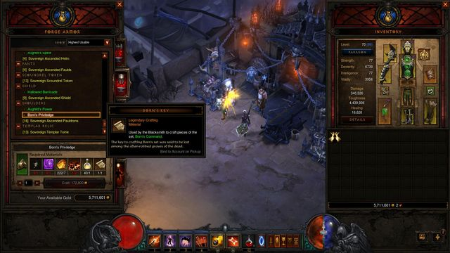 The list of all materials and locations crafting for Diablo 3 crafting items