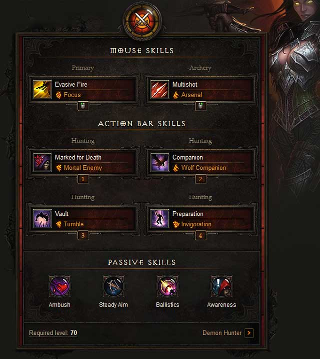 Left mouse button - Demon Hunter - Example builds - Diablo III: Reaper ...