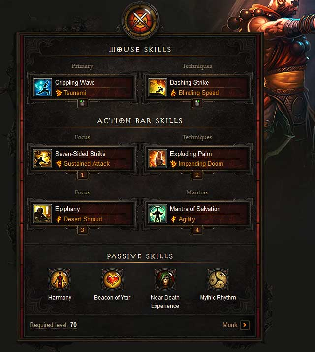Best Monk Build For Dashing Strike Set