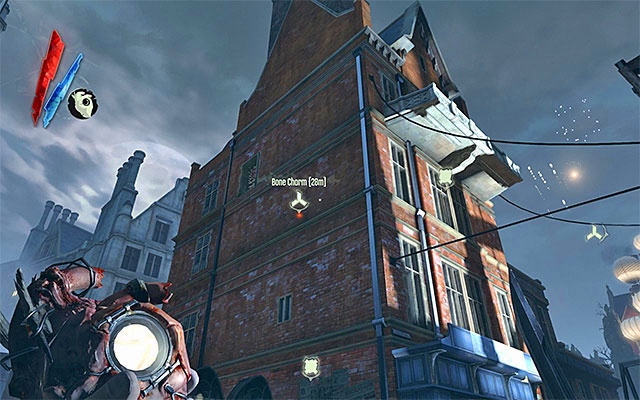 The most important part in the location is the building shown in the above screenshot - Exploring the Estate District - Mission 5 - Lady Boyles Last Party - Dishonored - Game Guide and Walkthrough