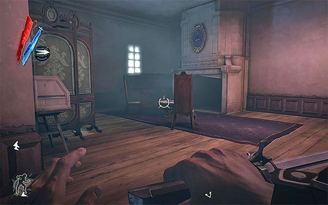 Take the staff exclusive staircase and after you pass the first floor, head towards the upper ones - Rescuing Emily - Mission 3 - House of Pleasure - Dishonored - Game Guide and Walkthrough