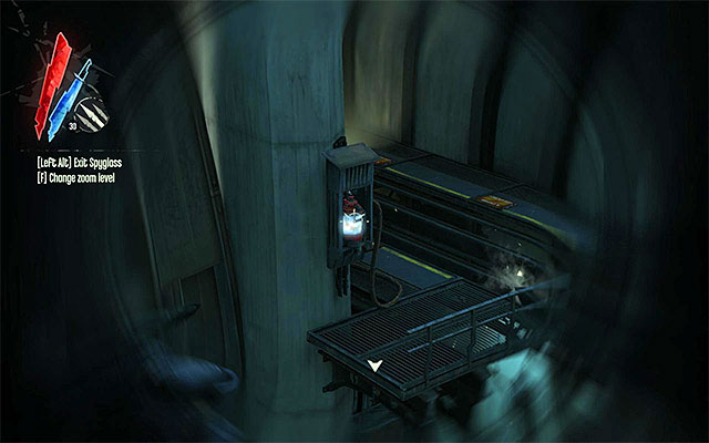 After you sufficiently near the wall of light, you should notice a power supply whale oil tank - Getting across the quarantine wall - Mission 7 - The Flooded District - Dishonored - Game Guide and Walkthrough