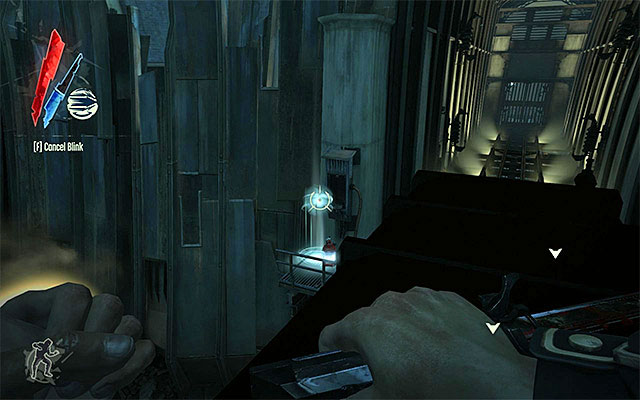 The rail should soon pull away - Getting across the quarantine wall - Mission 7 - The Flooded District - Dishonored - Game Guide and Walkthrough