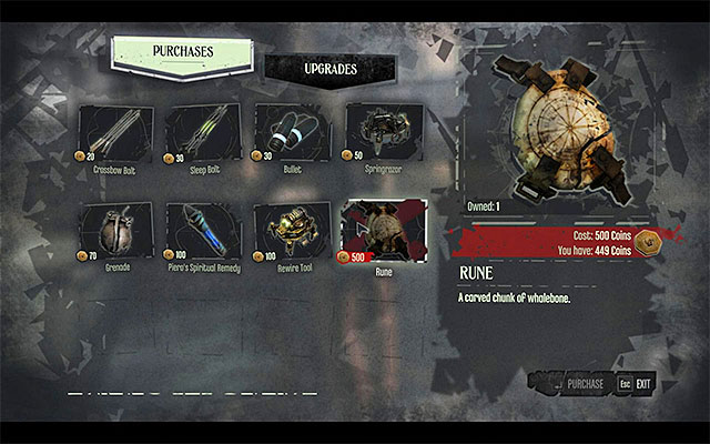 RUNE 2/2 - The rune is in Piero's stock (you can also buy it during one of your visits to the pub) - Runes - locations - p. 1 - Collectibles - Dishonored - Game Guide and Walkthrough
