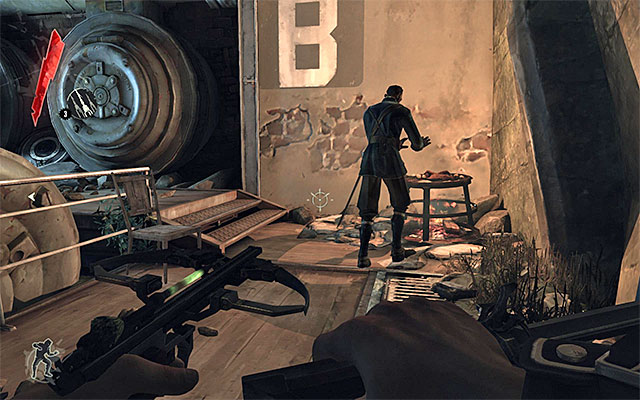 Traditionally now, you should wait for the guards to disperse - Finding a way out of the sewers - Mission 1 - Dishonored - Dishonored - Game Guide and Walkthrough