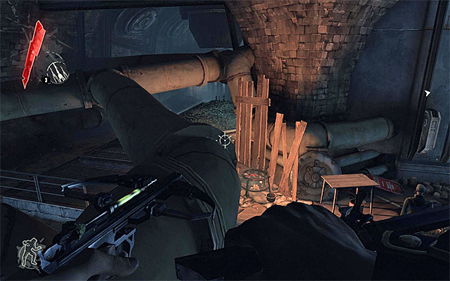 It's quite a pleasing information that you can easily avoid encountering all of the remaining enemies patrolling the sewers - Finding a way out of the sewers - Mission 1 - Dishonored - Dishonored - Game Guide and Walkthrough