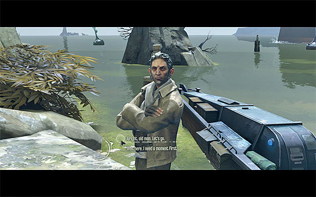 Approach Samuel and initiate a conversation with him - Finding a way out of the sewers - Mission 1 - Dishonored - Dishonored - Game Guide and Walkthrough