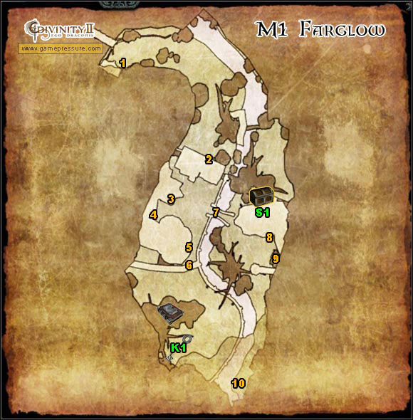 1 - Farglow - Map - M1 - Farglow - Divinity II: Ego Draconis - Game Guide and Walkthrough