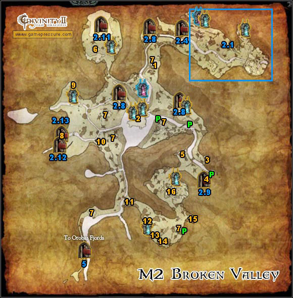 M2 Map - Broken Valley - Divinity II: Ego Draconis Game Guide ... Divinity Map on